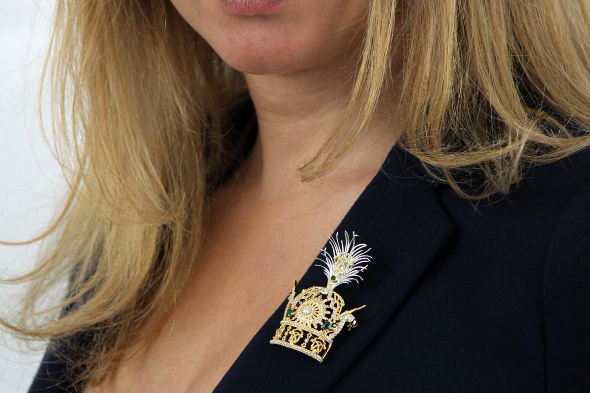 The Pahlavi Crown Brooch